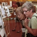 Guests looking at Talent Exhibit